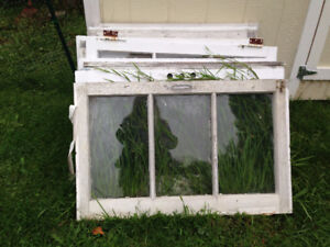 Antique 3-pane windows ready to be upcycled!