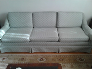 3-seat Chesterfield with Matching Armchair
