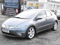 Honda Civic 1.8i-VTEC ( 18in Alloys ) Sport, Grey, 2006, 6 Months AA Warranty