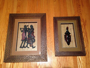 African Inspired Figurine in Framed Shadow Box