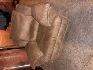 Large Recliner Chair (tan ultra suede)