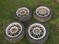"Daura Sports 15"" Alloy Wheels Mazda MX5, Honda? JDM"