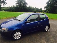 2002 fiat punto 1.2 petrol low miles full years mot cheap for quick sale