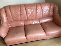 Leather 3 seater plus 1 seater