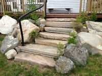 ! Landscaping? rock walls,stone patios, granite dr