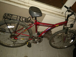 Vagabond VX 2600 Mountain Bicycle w/ Bike Rack +  Basket