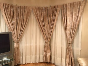 Bouclair Maison - Beige curtains - 6 panels