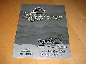 2001 Canadian Country Music Awards Official Program