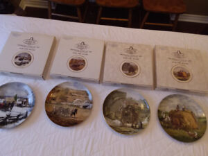 Set of 4 SIGNED Peter Etril Snyder Ltd Edition Collector Plates