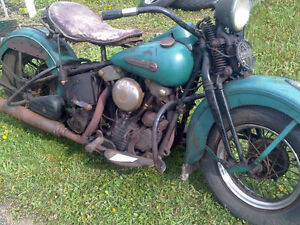 **WANTED** Vintage Harley and Indian Motorcycles Parts/P