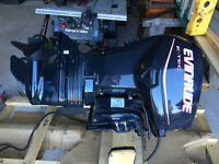 40 HP EVINRUDE ETEC WITH NEW SIDE CONTROLS