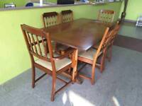 Extendable Table and 6 Chairs - Can Deliver For £19