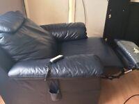 Italian real leather Natuzzi recliner Armchair