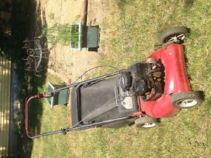 SOLD!    Lawn mower with rear bag