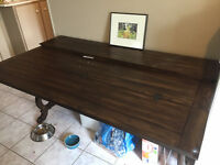Gorgeous REAL WOOD versatile side or dining table - UNIQUE