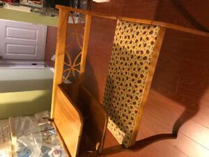 Antique telephone  bench.