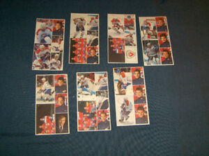 LOT OF 7 VINTAGE VACHON MONTREAL CANADIANS STICKER CARDS-1988
