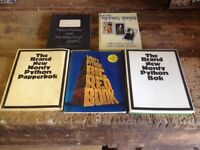 Nine original print Monty Python, Not the Nine O'Clock News and The Young Ones Books
