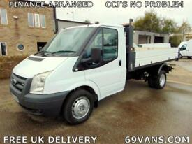 2009 FORD TRANSIT TIPPER, DROPSIDE, 6 SPEED GEARBOX, ONE-STOP BODY, 115-BHP