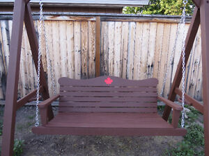 New Locally Handcrafted Wooden Patio/Garden Swing