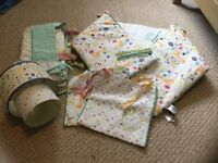 Mothercare Nursery Set - including curtains, cot bumper and light shade