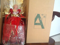 Avon light up angel figurine with glitter accents