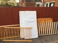 2 cotbeds for sale. With mattress