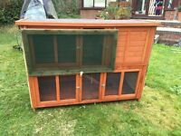 Outdoor 2 Tier Rabbit Hutch