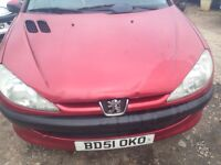 Peugeot 206 12 petrol long mot 395 no offers