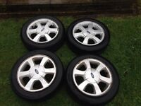 Ford Fiesta Alloy wheels And Tyres 4x108 PCD 165/60/14