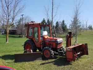 Kubota tractor  with front front Mount blower trade for rat rod