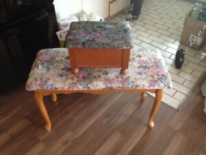 One table small foot stool