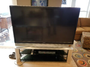 TV and stand plus DVD player