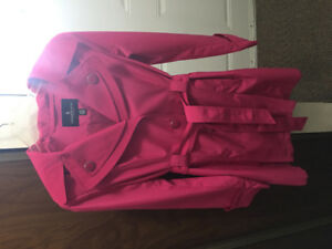 A medium size nice pink ladies coat almost very new