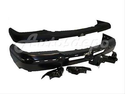 FOR 03-07 CHEVY SILVERADO LIGHT DUTY FRONT BUMPER CAP FACE BAR BLACK W/BRACKET