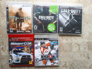 5- PS3 games  20$ for 5 games
