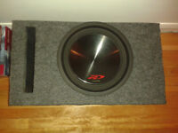 SUBWOOFER ALPINE TYPE-R SWR-12D4 4+4 1000 WATTS RMS