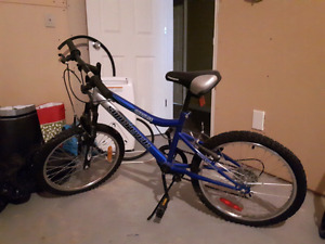 Bike 5 gears with 18 inch tall wheels. Perfect for a child.