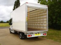 House removals luton van with tail lift man and van bike recovery moving service movers