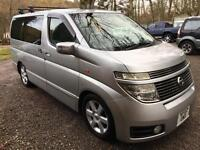 DAMAGED REPAIRABLE NISSAN ELGRAND HIGHWAY STAR 4WD NEW SHAPE MINOR DAMAGE 8 SEAT