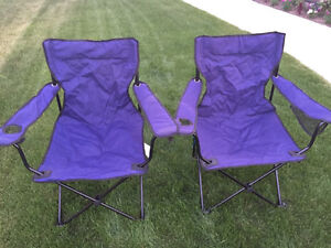 2 Arm chairs with cup holder and storage pocket