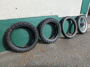 4 Used Motorcycle Tires