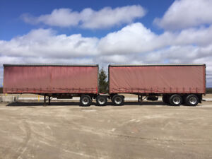2001 Lode-King Super B Flatbeds-Curtain Side Trailers for sale
