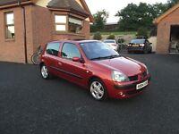 2004 Clio Dynamique 1.5 diesel (years MOT, FSH, timing belt change)