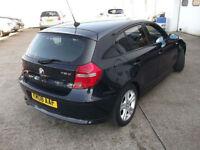 2008 08 BMW 118d SE 2.0 TD 143 BHP TURBO DIESEL 6 SPEED 1 OWNER FSH £30 TAX YEAR