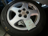 16' NISSAN RIMS AND TIRE 205/55/16 5X114 16X6.5 +40
