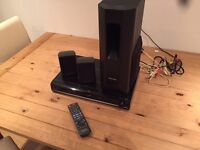 Panasonic DVD player, surround sound, iPod dock
