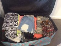 Suitcase full of womens clothes size 8/10