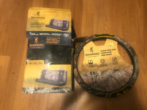 Browning steering wheel cover and seat cover