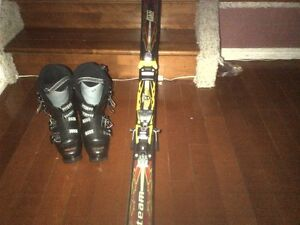 Skis and boots. Elan skis and Salomon x3-60T boots for sale.